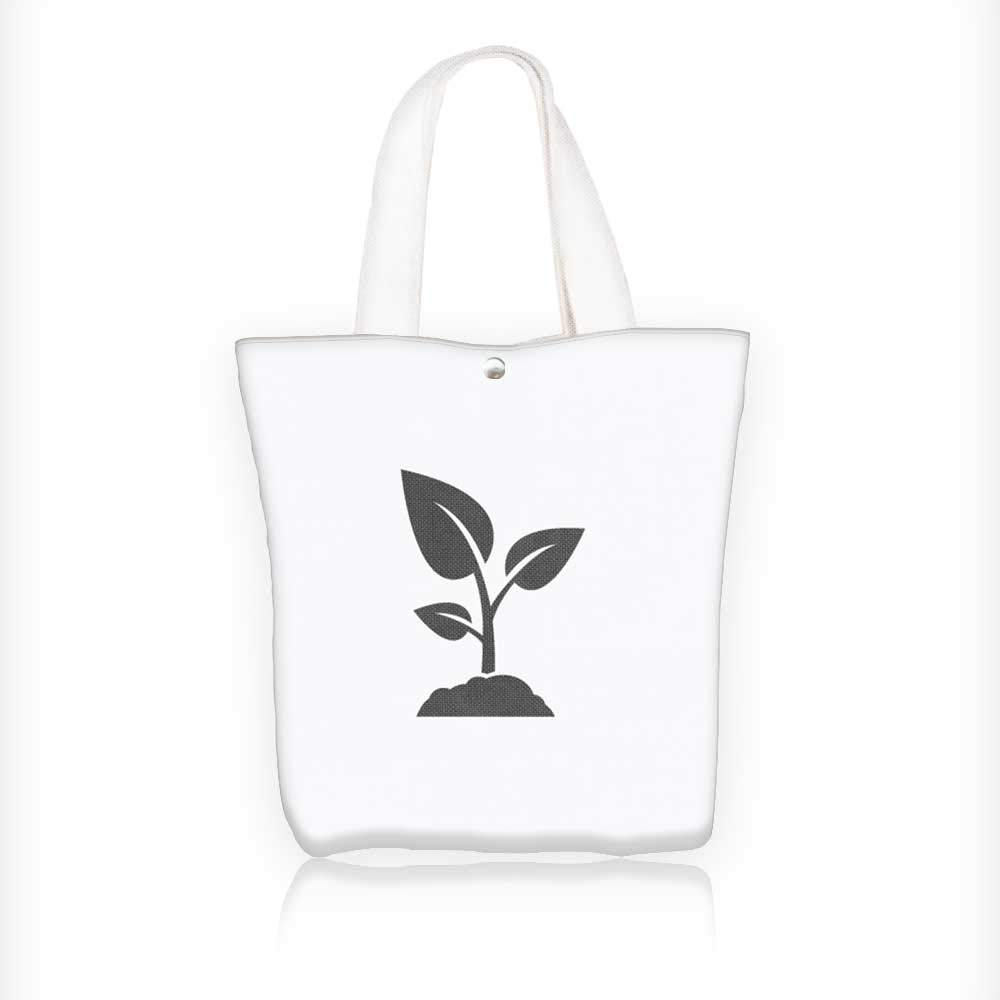 Amazon Canvas Tote Bags Sprout Vector Logo Design Template