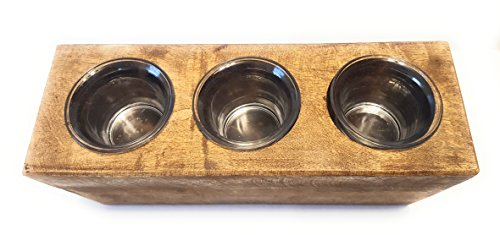 Set of 6 Wooden Mexican Sugar Mold Glass Candle Inserts Holders, Votive Candle Refill Glass Reusable Glass Sugarmold candle inserts (Mexican Candle Holders)