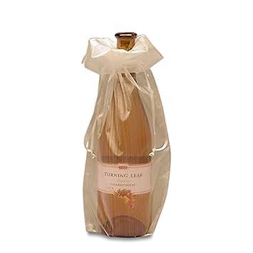 Amazon.com: Organza de color blanco bolsas de vino ...
