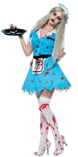Costumes Service Sexy Bloody (Bloody Service Sexy Costume - Womens Small)
