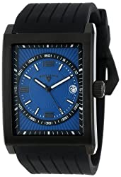 Swiss Legend Men's 40012-BB-03 Limousine Blue Textured Dial Black Silicone Watch