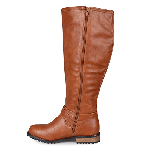 Brinley Co Womens Eve Boot Da Equitazione Regolare E Largo In Vitello