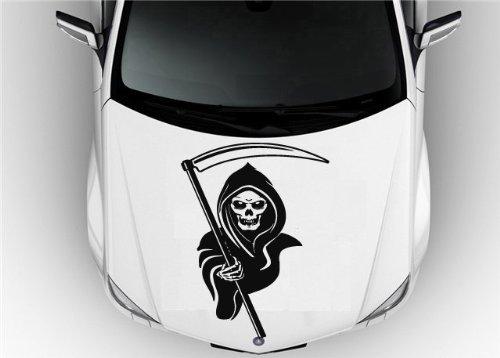 Grim Reaper Hood Auto Car Vinyl Decal Stickers Death Sign 7514