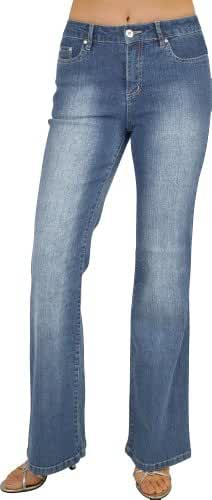 Women's 5 Pocket Flare Stretch Jean Size:3-17 #L58-31