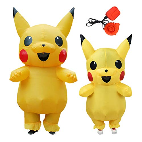 ANOTHERME Inflatable Pikachu Fancy Dress for Children | Halloween Costume | Blow Up Costume Yellow