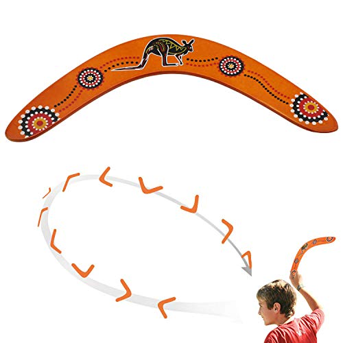 OOTSR Handmade Wood Boomerang Australian Style Maneuver Dart - Outdoor Sports Wood Equipment Flying Returning Boomerang