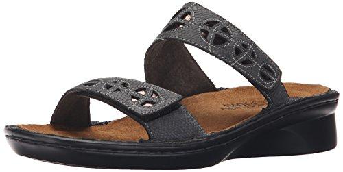 Cornetta Vetro Argento 36 Sandalo Slitta Rettile Grigio Di Nero Naot Donna Corvo Europea Ci BWndYB8U