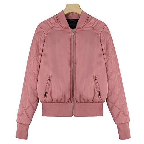 Amazon.com: Woodrow Nora Bomber Jacket for Women Warm Thicken Plaid Long Sleeve Stand Collar Basic Jacke: Clothing