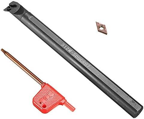 S12M-SDUCR07 Drehmaschine Drehwerkzeughalter + DCMT0702 Carbide Insert + Wrench Drehbank ZubehöR Schaftdrehmaschine