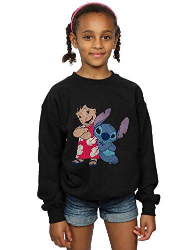 Disney Girls Lilo & Stitch Classic Lilo & Stitch Sweatshirt 9-11 Years Black]()