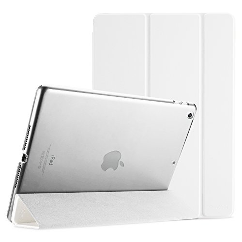 ProCase iPad 9.7 Case 2018 iPad 6th Generation Case / 2017 iPad 5th Generation Case - Ultra Slim Lightweight Stand Case with Translucent Frosted Back Smart Cover for Apple iPad 9.7 Inch –White