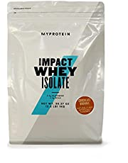 Myprotein® Impact Whey Isolate Protein Powder, Gluten Free Protein Powder, Muscle Mass Protein Powder, Dietary Supplement for Weight Loss, Whey Protein Powder, Chocolate Brownie, 2.2 Lbs