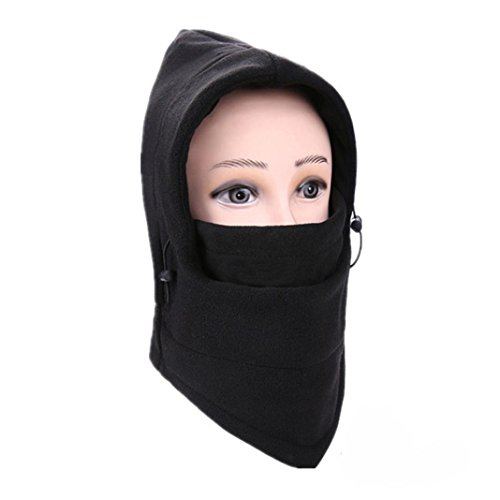 Balaclava Ski Face Mask Windproof Men Women Warm Hood Winter Masks Thermal Fleece Fabric with Breathable Vents for Cold Cycling Skiing Motorcycle Face Hats (A)