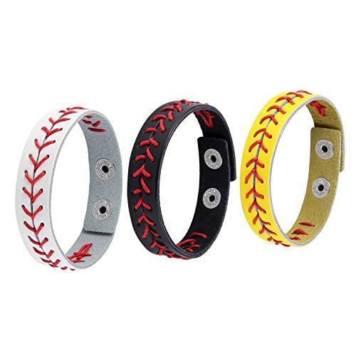 HZMAN Leather Softball Baseball Bracelets by Athletes Bangle