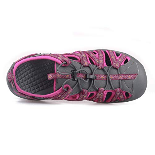 Pictures of GRITION Women Athletic Hiking Sandals Closed Toe 1801BLM 4