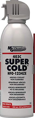 MG Chemicals 403C Super Cold Spray, HFO-1234ZE, 235 Gram Aerosol