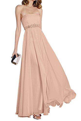 am Anmutig Taille Blau Steine Chiffon Braut mit Abendkleider Partykleider Festlichkleider Himmel La Dunkel Rosa mia Ballkleider qxUE77