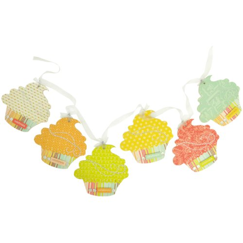 Brand New Beyond The Page MDF Cupcake Pennant 6/Pkg-5