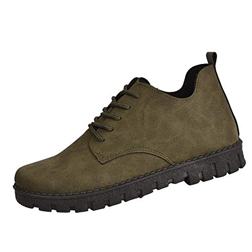 ZYEE Women's Martin Boots, Clearance Sale! Ladies Fashion Lace-Up Shoes Student Retro Flat Boots