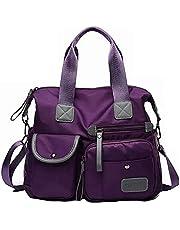 SEEKVER Bolsas de hombro Mujeres,bandolera mujer, Mochila Impermeable Antirrobo Ideal,Bolsas de Hombro Mano Impermeable Nylon Para Viaje(Purple)