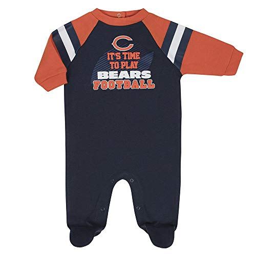 Bears Infant Sleeper - NFL Chicago Bears Unisex-Baby Sleep 'N Play, Blue, 0-3 Months