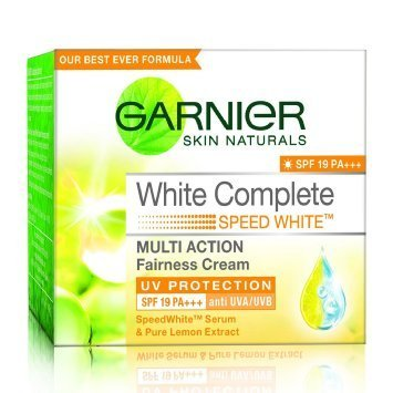 Garnier Skin Naturals White Complete Speed White Multi Action Fairness Cream SPF 17 UV Protection 18 gm (Pack of 2)