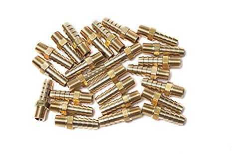 "25 LTWFITTING Brass Fitting Coupler 1//8/"" Hose Barb x 1//8/"" Male NPT adapter"