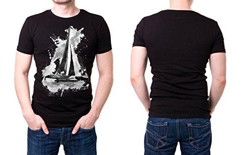 Katamaran_I schwarzes modernes Herren T-Shirt mit stylischen Aufdruck