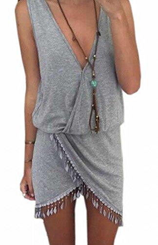 generic womens casual vogue t shirts short sleeve tassel top dress. Black Bedroom Furniture Sets. Home Design Ideas