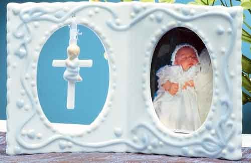 4'' Photo Frame with Cross for Baby Girl by Unknown