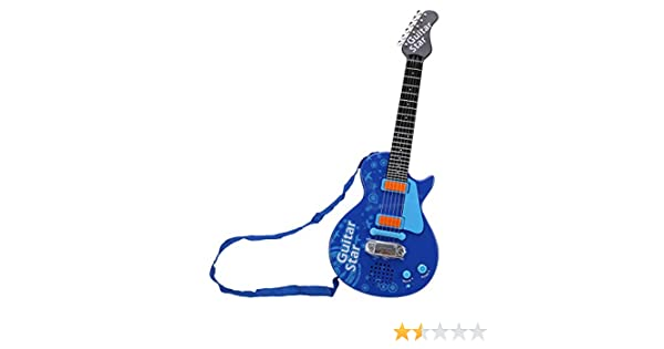 Amazon.com: WOLFBUSH Children Electric Guitar 6 Strings Guitar Toy Early Educational Musical Instrument Toy for 2-10 Years Old Boys Girls (Blue): Toys & ...