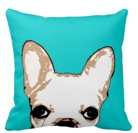 h Bulldog Turquoise Best Throw Pillowcase 18x18inch (Tiger Protector Case)