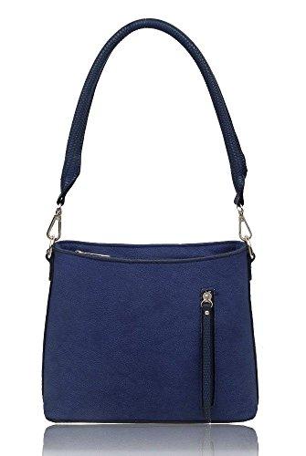 Cross ladies Women's Zip body Handbag Navy Shoulder Details Bag Messenger Small nq0rXqwU