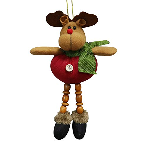 Outsta Christmas Santa Snowman Reindeer Ornament,Toy Doll Hang Party Decoration (C)