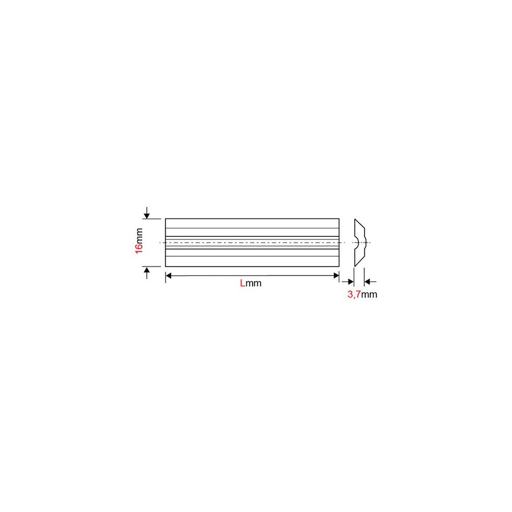 forézienne–Fer de Abrichthobelmaschine/Hobelmaschine Umkehrbar, variplan Wolframcarbid 130x 16x 3,7mm (Eisen)–mfls–fere1301637s