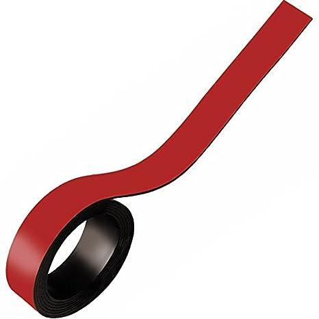 5m Rolle Farbe:rot f/ür Whiteboards Flipcharts Magnetband Kennzeichnungsband farbig Werkstatt Pr/äsentationen Breite 20mm von Lager Zum Beschriften und Markieren Magnetstreifen