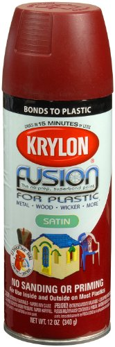 (Krylon K02425001  Fusion for Plastic Spray Paint, Satin Burgundy)