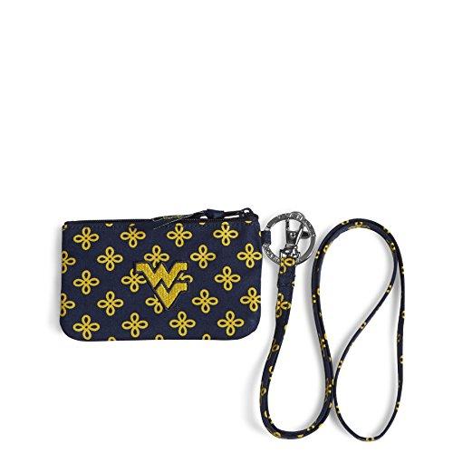 Vera Bradley NCAA West Virginia Mountaineers Women's Zip ID Lanyard, Navy/Gold, One Size