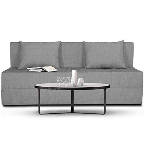 Adorn India Easy Three Seater Sofa Cum Bed Alyn 5'x 6′ (Grey)