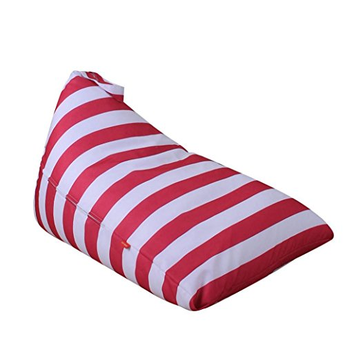 Wondere Stuffed Animal Storage Bean Bag Chair,Kids Plush Toy Soft Pouch Stripe Fabric Chair Premium Seat Easy Solution for Extra Toys / Blankets / Covers / Towels / Clothes (A)