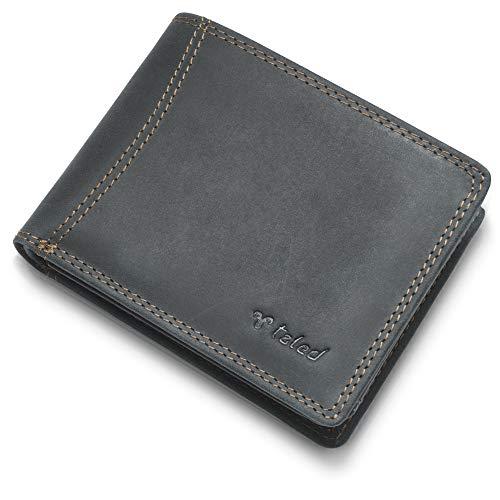 🥇 Monedero de león TALED hecho de piel de búfalo de alta calidad con protección RFID – Monedero billetera – Hecho en Alemania