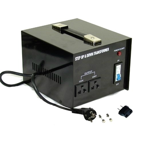 Plug Euro Free (5000 Watt Voltage Converter Transformer Heavy Duty - Step Up/Down - 110/120/220/240 Volt - Fully Grounded Cord (Free Euro Plug) - Universal Output Sockets)