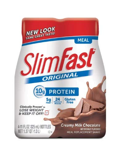 SlimFast Original Meal Replacement Shakes, Creamy Milk Chocolate (Pack of 14)