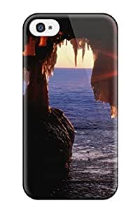 Brand New 4/4s Defender Case For Iphone (cave At The Edge Of The Ocean)