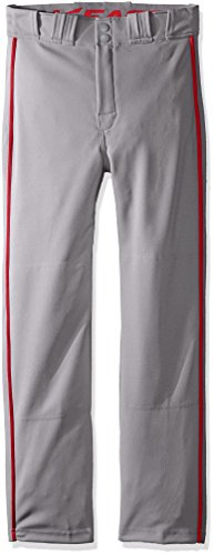 Easton Boys Rival 2 Piped Baseball Pants, Gray/Red, Large