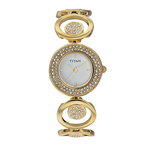 Titan Purple Analog White Dial Women's Watch ()