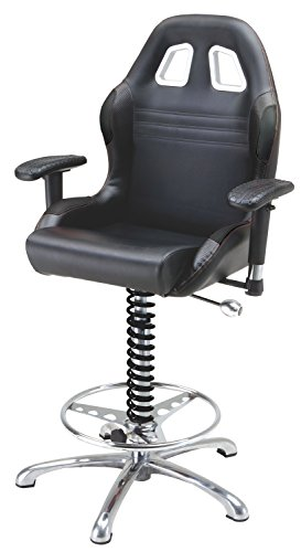 Pitstop Furniture BC6000B Black Crew Chief Bar Chair