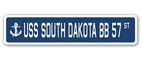 - USS South Dakota BB 57 Street Sign us Navy Ship Veteran Sailor Gift