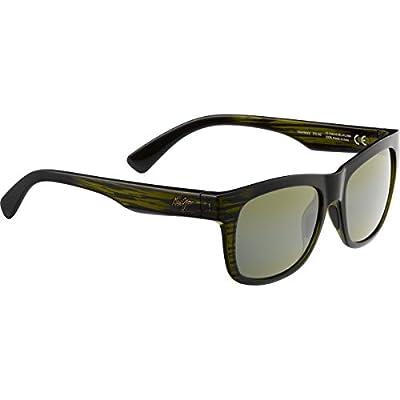 ae61fff11a87 Maui Jim Snapback 730 Sunglasses, Green Stripe/ht Lens, Sunglasses