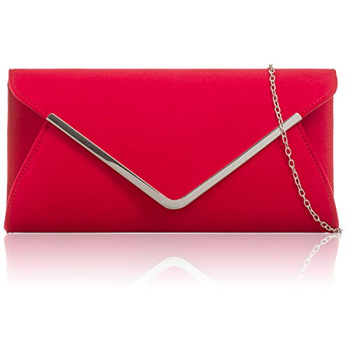 Red Envelope Bags Faux Women Clutch Baguette New Prom London Evening Xardi Leather Suede Ladies 6qHOxCw